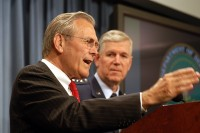 Rumsfeld and Myers at the April 25, 2003 News Briefing