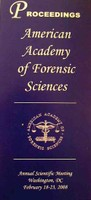 American Academy of Forensic Science: Proceedings Cover
